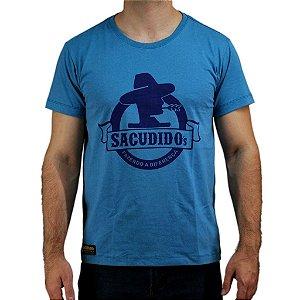 Camiseta Sacudido´s - Logo Tradicional - Azul