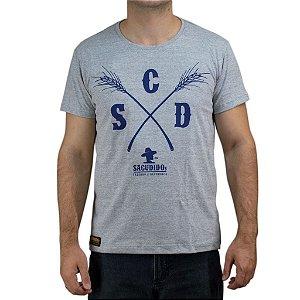 Camiseta Sacudido's - Capim - Cinza Mescla
