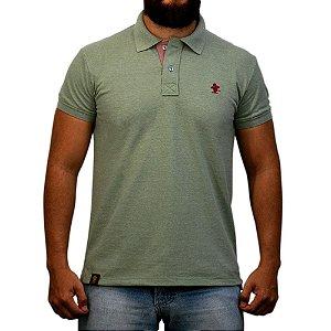 Camiseta Polo Sacudido's - Verde e Vinho