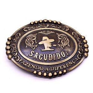 Fivela Cinto Sacudido´s - Logo - Ouro Velho