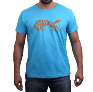 Camiseta Sacudido's - Cavalo - Azul Paradise