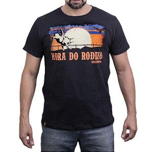 Camiseta Sacudido's - Hora do Rodeio - Preto