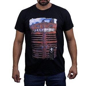 Camiseta Sacudido's - Frente Trator - Preto