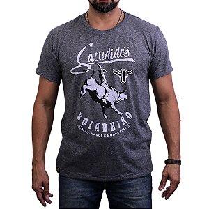 Camiseta Sacudido's - Boiadeiro - Mescla Escuro