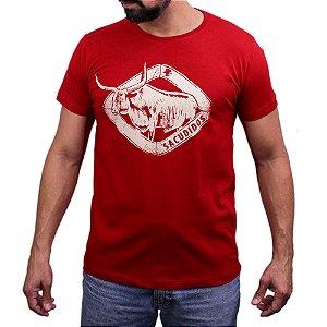 Camiseta Sacudido's - Touro Chifre - Rubro