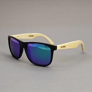 Óculos Sacudido´s - Bambu - Lente Furta-Cor