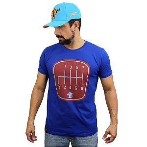 Camiseta Sacudido's - Câmbio Caminhão -Azul França