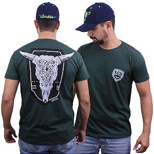 Camiseta Sacudido´s - Cabeça de Boi - Verde Musgo