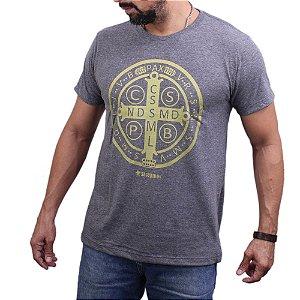 Camiseta Sacudido's - São Bento - Mescla Escuro