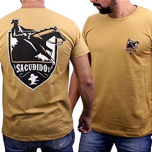 Camiseta Sacudido´s - Cavalo - Trigo