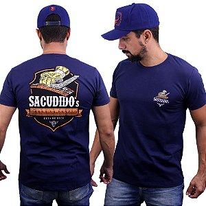 Camiseta Sacudido's - Pega no Breu - Marinho