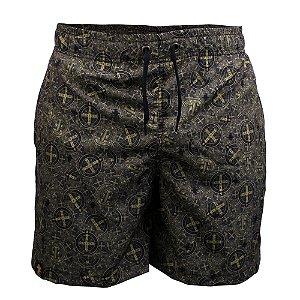 Short Sacudido's São Bento - Preto e Dourado