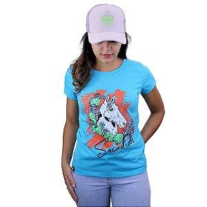 Camiseta Sacudido's Feminina - Cavalo - Paradise