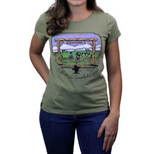 Camiseta Sacudido's Feminina - Porteira- Militaire