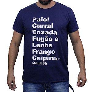 Camiseta Sacudido's - Palavras  - Marinho