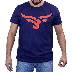 Camiseta Sacudido's - Boi Estilizado - Marinho