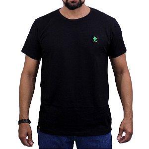 Camiseta Sacudido's - Básica -Preto/Verde Bandeira