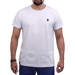 Camiseta Sacudido's - Básica - Branca / Marinho