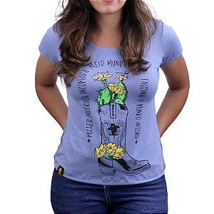 Camiseta SCD's Viscolycra Fem.- Bota - Azul Claro
