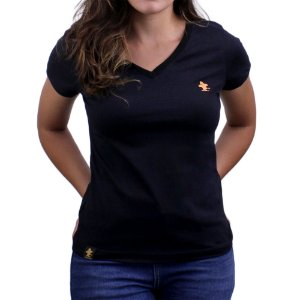 Camiseta SCD's Feminina Básica - Preto / Hype