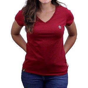 Camiseta SCD's Feminina Básica - Rubi / Mescla Escuro