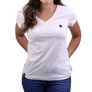 Camiseta SCD's Feminina Básica - Natural / Marinho