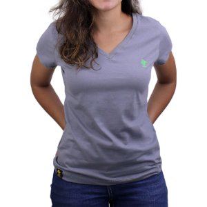 Camiseta SCD's Feminina Básica - Cinza / Clorofila