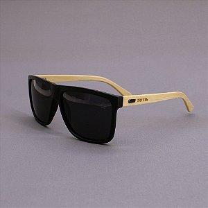 Óculos Sacudido´s - Bambu Reto - Lente Preta