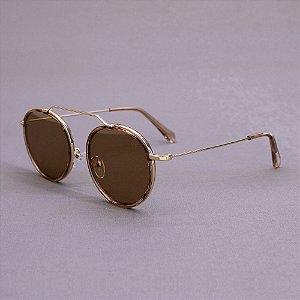 Óculos Sacudido´s - Metal Redondo - Lente Bronze