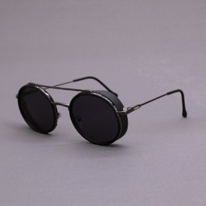 Óculos Sacudido´s - Metal Redondo - Preto- Preto