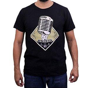 Camiseta Sacudido's - Microfone - Preta