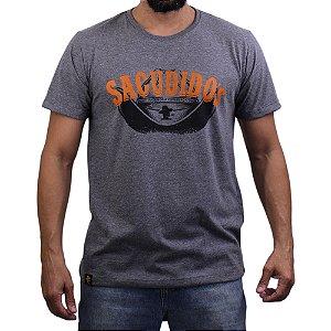 Camiseta Sacudido's - Chapeu - Mescla Escuro