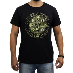 Camiseta Sacudido's - São Bento - Preto
