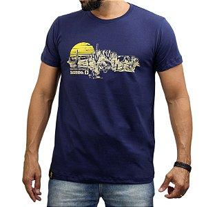 Camiseta Sacudido's - Deserto - Marinho