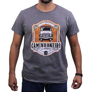 Camiseta Sacudido's - Caminhoneiro - Mescla Chumbo