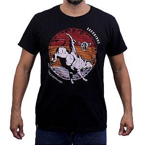 Camiseta Sacudido's - Rodeio Logo Redondo - Preto