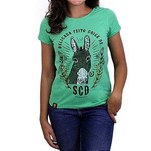 Camiseta Sacudido's Feminina -Coice Mula-Clorofila