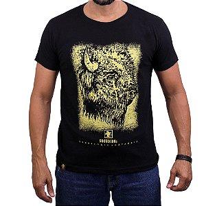 Camiseta Sacudido's - Bison - Preto