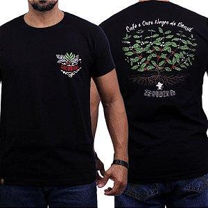Camiseta Sacudido's - Café Ouro Negro - Preto