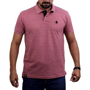 Camiseta Polo Sacudido's - Vinho Mescla-Preto