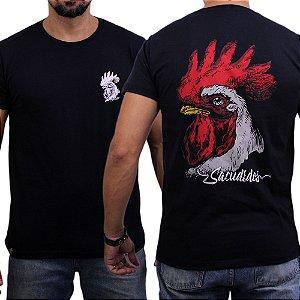 Camiseta Sacudido's - Galo - Preto