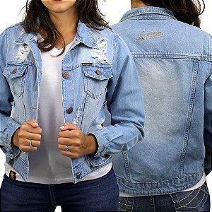 Jaqueta Sacudido's - Feminina - Jeans claro