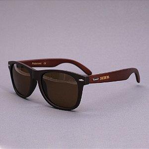 Óculos Sacudido´s - Bambu Marrom - Lente Marrom
