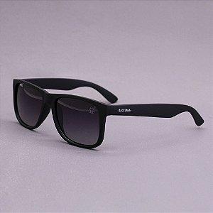 Óculos Sacudido´s - Preto Fosco Liso - Lente Cinza