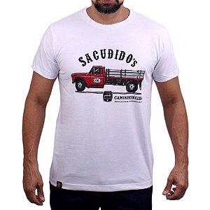 Camiseta Sacudido's - Caminhoneiro - Branco