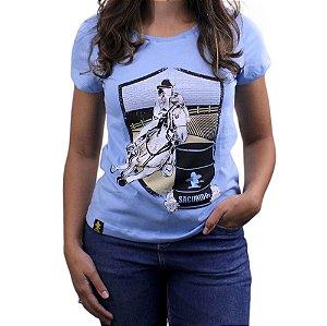 Camiseta Sacudido's Feminina -Tambor - Azul Bebê