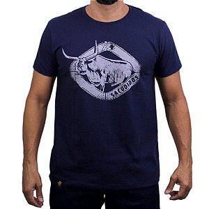 Camiseta Sacudido's - Touro Chifre - Marinho