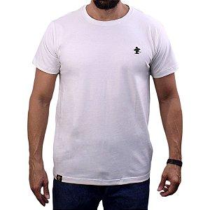 Camiseta Sacudido's - Básica - Natural/Verde Musgo