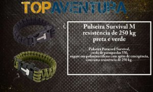 Pulseira Survival Paracord, com apito - NTK
