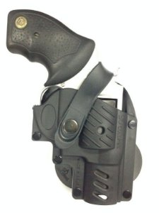 Coldre Destro em Polímero para Revolver 5 Tiros - Só Coldres